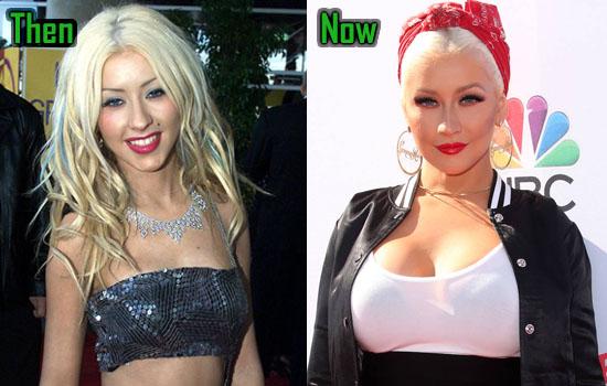 Christina Aguilera Facelift, Boobs Job